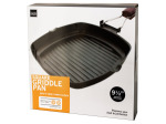 Square Griddle Pan with Wooden Handle