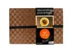Decorative Wood Look Woven Placemat Set