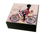 Whimsical Girl Wooden Trinket Box