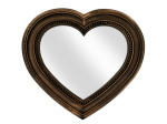 Antique Bronze Heart Shaped Mirror