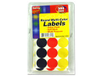 Round multi-color labels