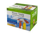 Picnic Table Condiment Holder Set
