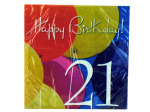 18 count 21st birthday napkins