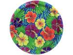 8 pack Luau floral paper plates