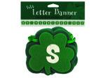 St. Patrick`s Day felt letter banner