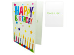 Extra large birthday card with envelope