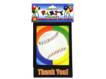 Sports-themed thank you cards, pack of 8