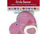 Candy Hearts Circle Ribbon Banner