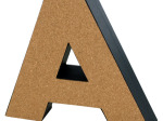 'A' Decorative Cork Board Letter