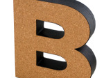 'B' Decorative Cork Board Letter