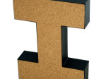 'I' Decorative Cork Board Letter