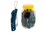 pocket knife stainless steel w/plastic handle (24 per jar)