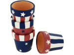 Americana Terra Cotta Napkin Rings Set