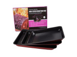 Set of three roasting pans
