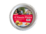 Plastic plates, pack of 10, 9""