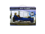 Fleece body blanket with sleeves