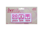 cherish peace love cure iron on applique