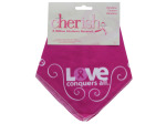 cherish peace love cure bandana