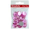 simplicity 24 pack pink circle gems