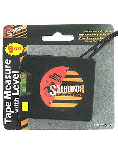 6ft tape measure w/level