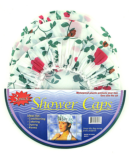 3 pc shower cap