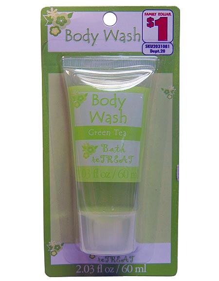 body wash green tea