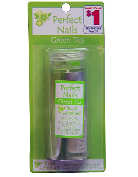 perfect nail green tea