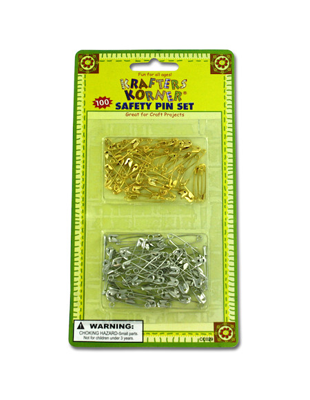 100pc safety pin cft set