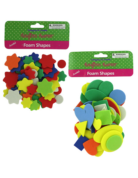 assorted foam shapes
