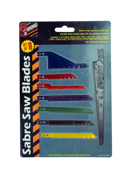 8 pc sabre saw blade