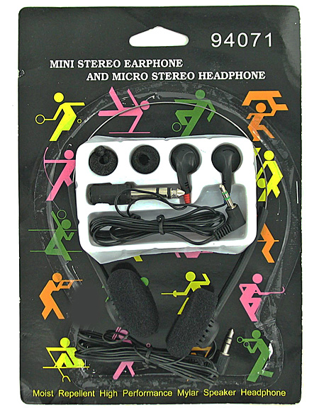 headphone/earphone set