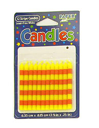 12 red/ylw candles 101