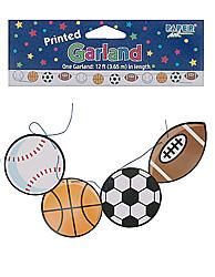 #1 sport printed garlnd