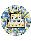 happy retire 8ct plate