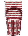 picnic plaid 8ct cups