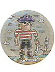 pirate party 8ct plate